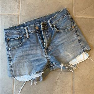 Old Levi's cut off shorts size 0-2